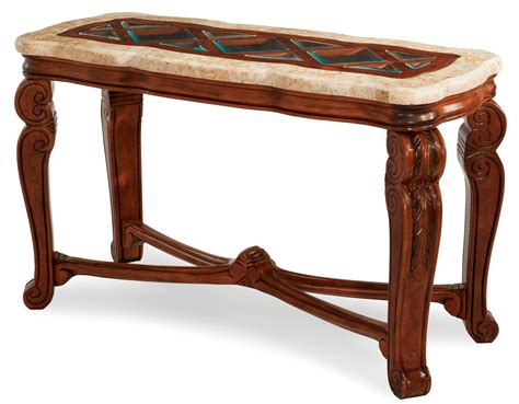 marble top sofa table tuscano marble top sofa table rustic biscotti finish by