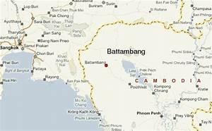 Cambodia Map Battambang