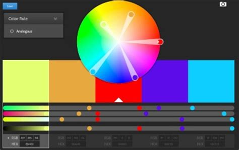color wheel adobe rgb color pickers and generators free tool