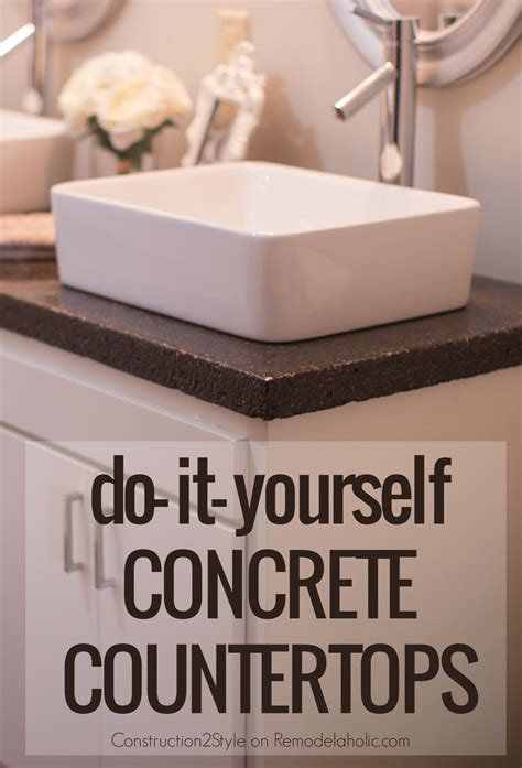 concrete bathroom sink diy remodelaholic diy concrete countertops in a beautiful