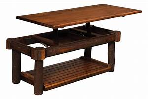 rustic hickory lift top coffee table from dutchcrafters amish With amish lift top coffee table