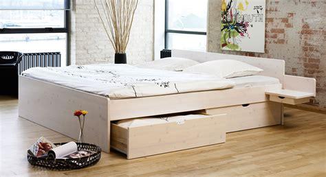 schubkasten doppelbett aus buche oder kiefer bett norwegen