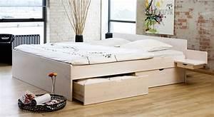 Bett 90x200 Weiß Mit Schubladen : schubkasten doppelbett aus buche oder kiefer bett norwegen ~ Bigdaddyawards.com Haus und Dekorationen