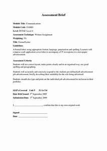 Formal Letter For Job formal letter template