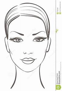 Beautiful woman face stock vector. Illustration of ...