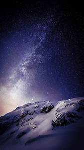 Wallpaper, Landscape, Mountains, Night, Galaxy, Nature