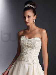 taffeta ball gown wedding dress with beaded bodice sang With wedding dress beads