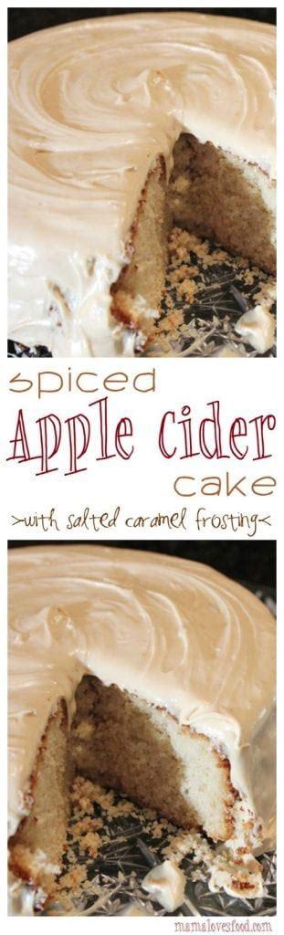 spiced apple cider cake  salted caramel icing mama