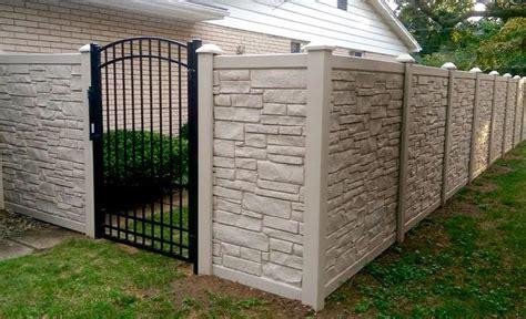 simtek ecostone fence  arched top aluminum gate