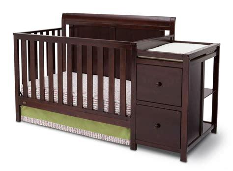 baby crib with changer delta children vintage espresso chatham crib n changer