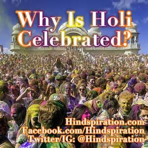 why is holi celebrated hindspiration