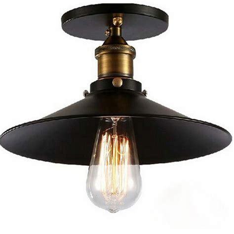 new vintage american e27 ceiling l iron black aisle