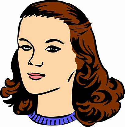 Head Clipart Forehead Woman Clip Transparent Neck