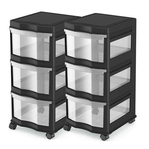 Plastic Drawers by Story Classic 3 Shelf Storage Organizer Plastic