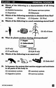 Nstse 2009 Solved Question Paper For Class Iv