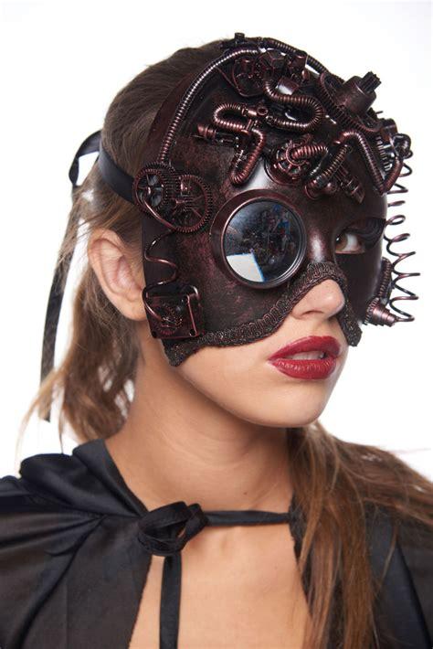 mecha girl steampunk mask