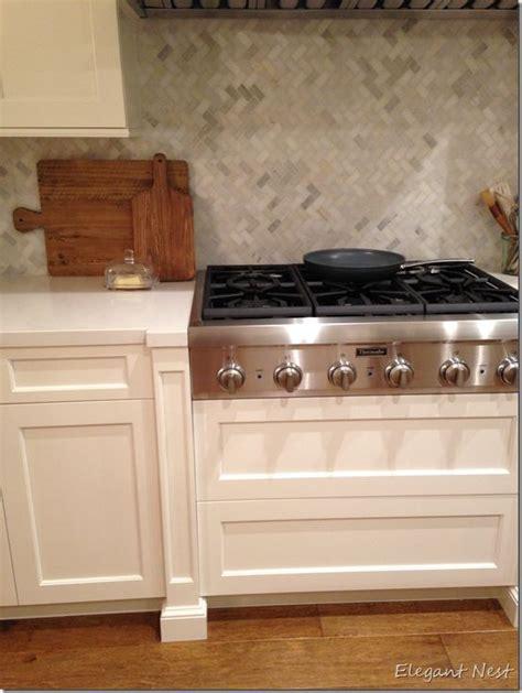 kitchen backsplash trim ideas marble herringbone pattern mosaic tile backsplash 5081