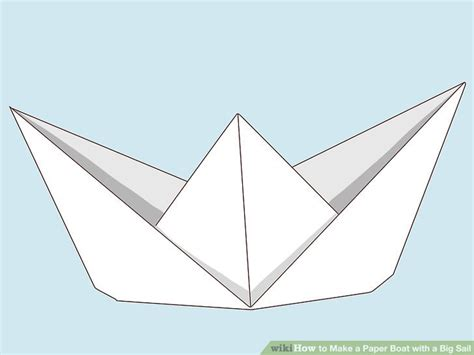How To Make A Paper Boat With Paper by How To Make A Paper Boat With A Big Sail 12 Steps With