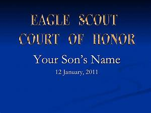 eagle scout court of honor powerpoint With eagle scout powerpoint template