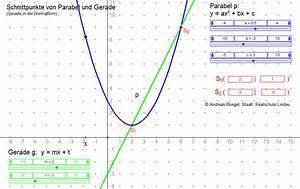 Schnittpunkt Berechnen Parabel Und Gerade : parabelgleichungen ~ Themetempest.com Abrechnung