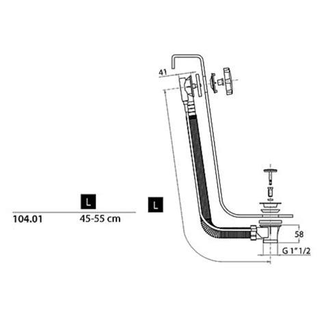 montaggio vasca da bagno cgs colonna scarico per vasca in polipropilene troppo