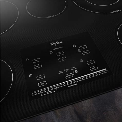 "Whirlpool G9CE3065XS 30"" Smoothtop Electric Cooktop with 5"