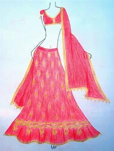 Indian dress Sketch by moumita28 on DeviantArt