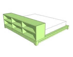 platform bed design plans