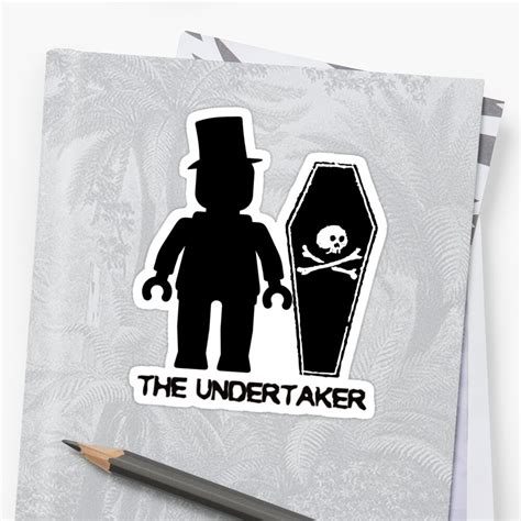 the undertaker by customize my minifig sticker by