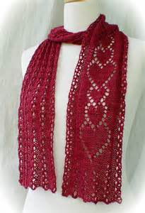 Knitted Heart Scarf Pattern