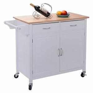 Us, Portable, Kitchen, Rolling, Cart, Wood, Island, Serving, Utility, W, Cabinet, U0026drawer