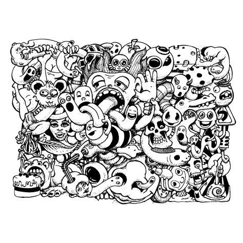Kleurplaat Ingewikkeld leuk voor doodle door fihue