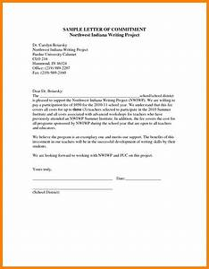 commitment letter format cover letter example With letter of commitment template