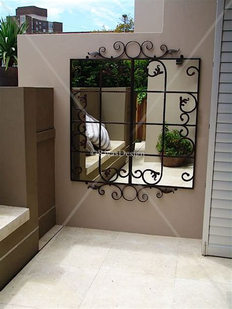 scrolled gate outdoor mirror std outdoor mirrors