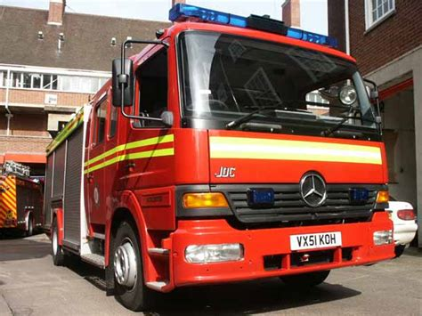 mercedes fire engine hereford worcester fire