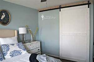 bedroom closet barn door diy With barn door look closet doors
