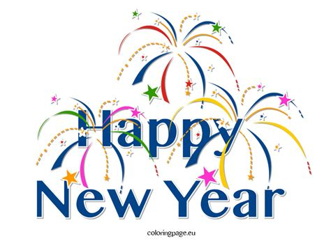 New Year Clipart Clipart Happy New Year Loring Page Cliparting