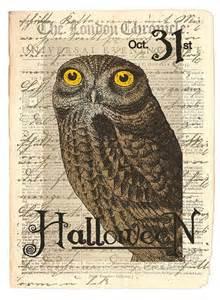 Halloween Owl Print