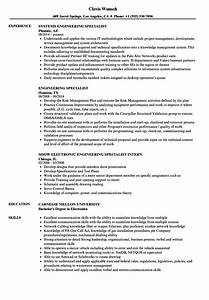 Engineering Specialist Resume Samples
