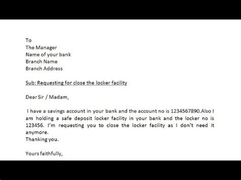 write application  bank manager  close