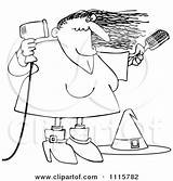 Blow Witch Drying Clipart Halloween Dryer Outlined Illustration Royalty Djart Vector Coloring Template Cox Dennis Regarding Notes Clipartof sketch template