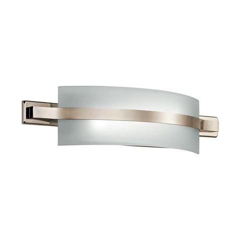 led bathroom vanity light shop kichler lighting 1 light freeport polished nickel led