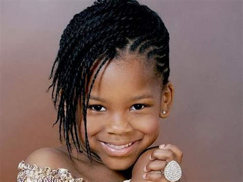 Cute African American Little Girl Braided Hairstyles Side