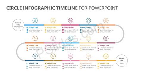circle infographic timeline  powerpoint pslides