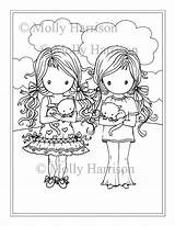 Coloring Twin Pages Printable Twins Para Harrison Molly Kitties Colorir Whimsical Imagens Getdrawings Fairy Adults sketch template
