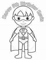 Superhero Coloring Pages Kid Super Hero Superheroes Printable Drawing Boy Children Sheets Template Personalized Heroes Google Etsy Birthday Pdf Activity sketch template