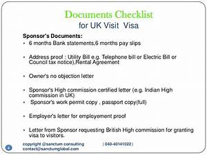 Uk visit visa sanctum consulting for Documents checklist for uk visa