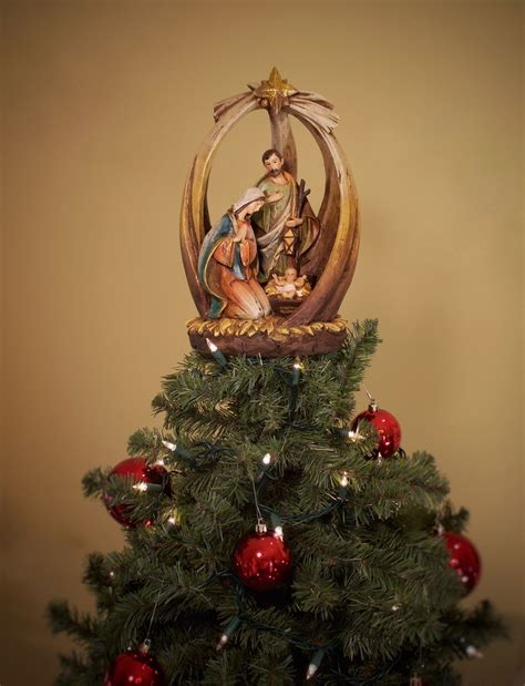 cool tree toppers holy family with unique tree topper summit arbor holy family tree toppers and arbors