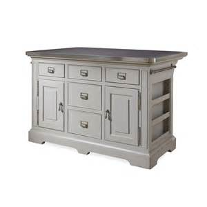kitchen island with stainless top paula deen home dogwood kitchen island with stainless steel counter top reviews wayfair