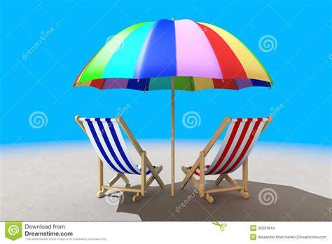 deux chaises de plage sous le parasol images stock image 32251644